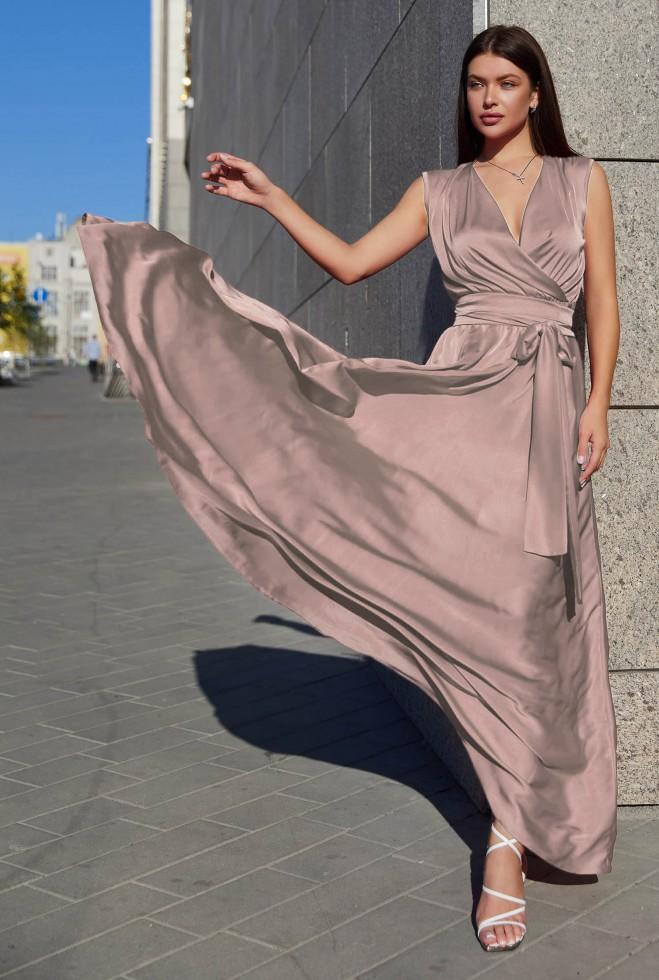 Платье Фурор бежево-лиловый Жадон