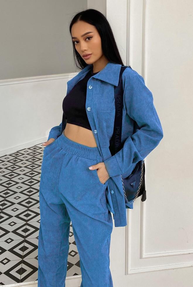 Прогулочный костюм Инес голубой Жадон