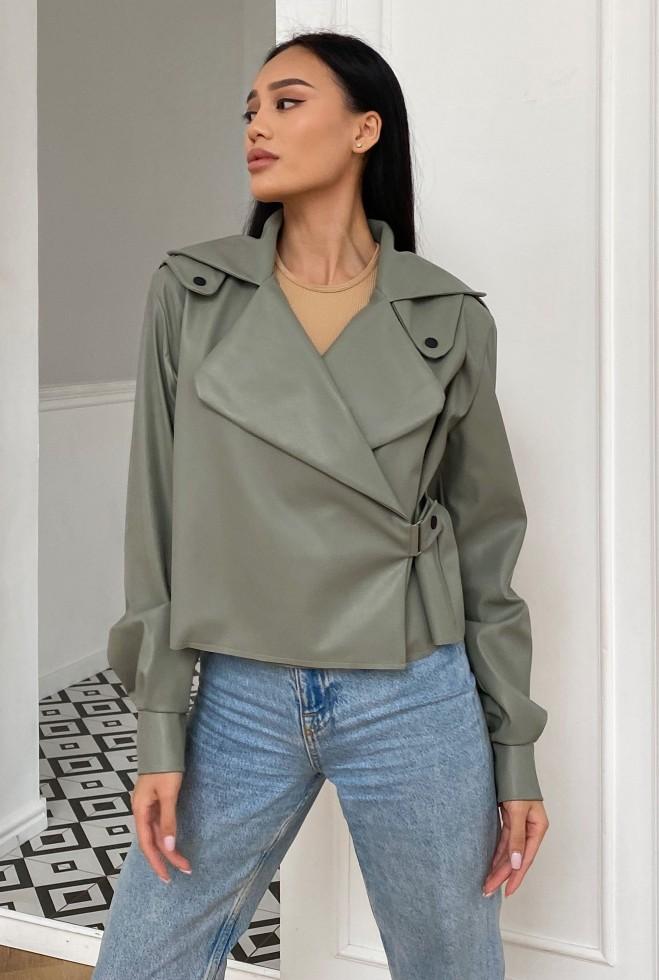 Куртка Дейт без подкладки оливка Жадон