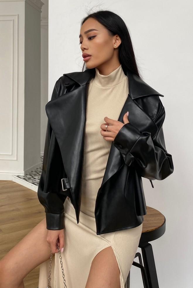 Куртка Дейт без подкладки черный Жадон