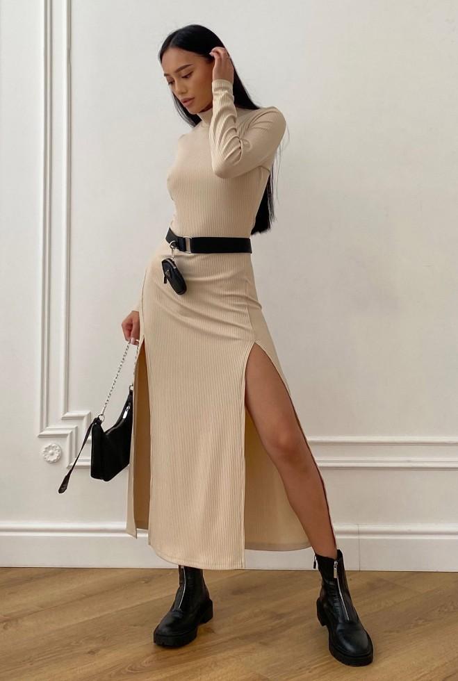 Платье Рената бежевый