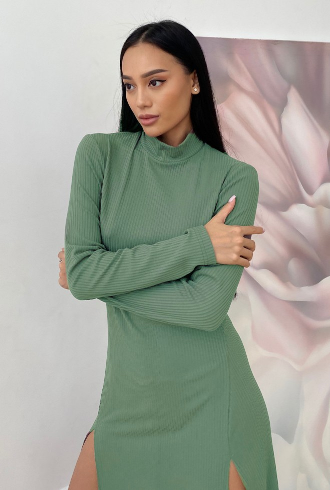Платье Рената оливка