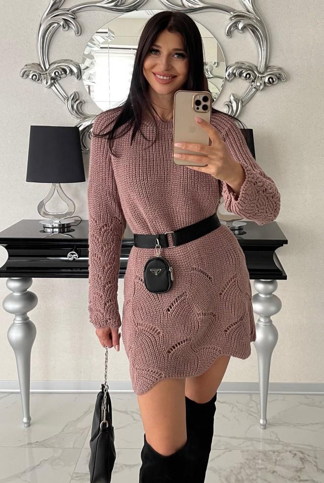 Платье-туника Риал пудра Жадон