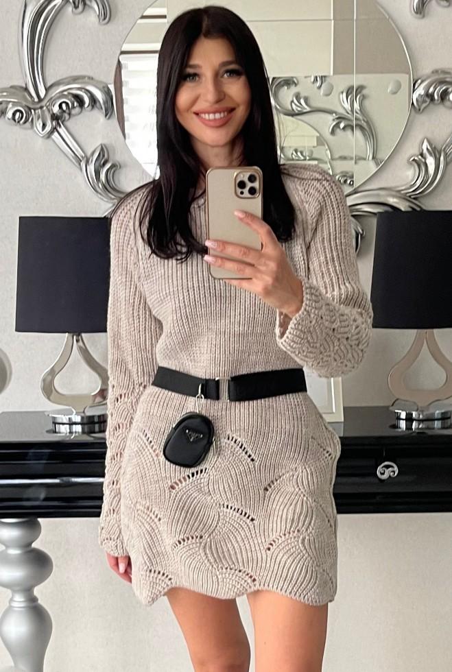 Платье-туника Риал бежевый Жадон