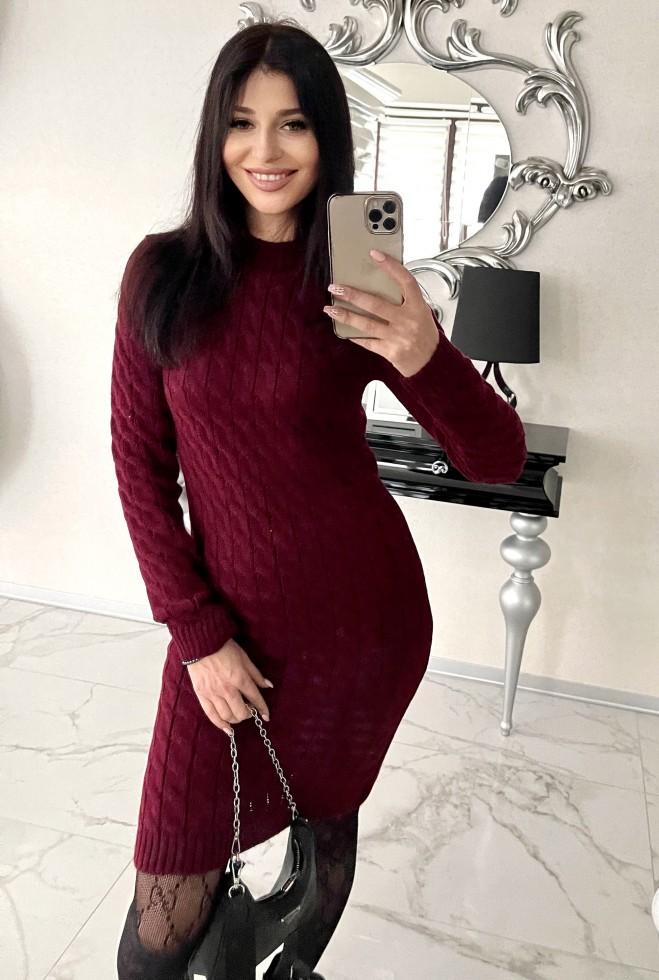 Платье Леда бордовый Жадон