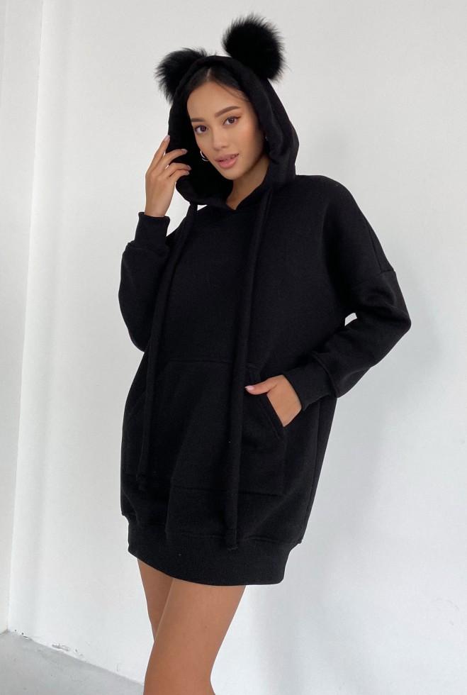 Платье-туника Дженни черный Жадон
