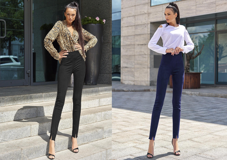 Остромодный тренд нынешнего сезона - брюки с разрезами